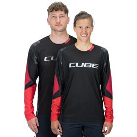 Cube Edge Maglia girocollo con manica lunga Uomo, black´n´red